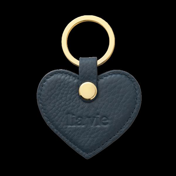 Schlüsselanhänger Herz blau