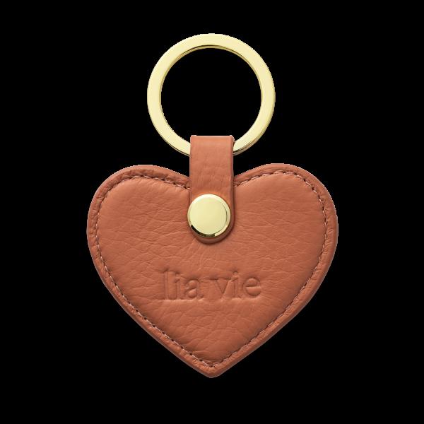 Schlüsselanhänger Herz orange