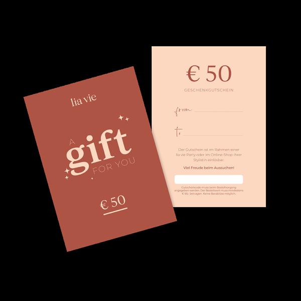 € 50,- Kaufgutschein
